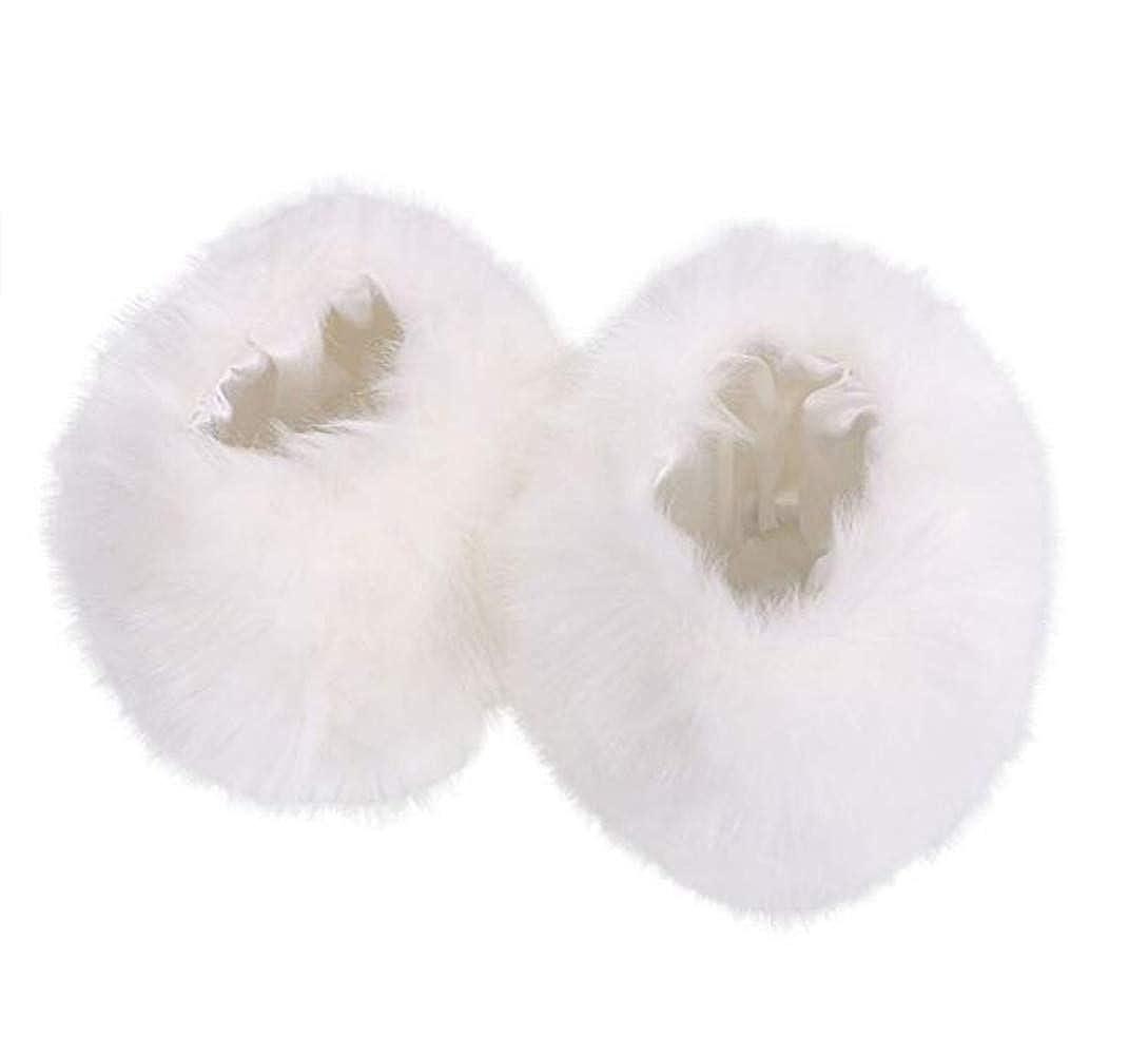 Bhwin Women Faux Fur Fuzzy Wrist Cuffs Warmers And Winter Faux Fur Boot Cuffs Knitting Leg Warmers Set