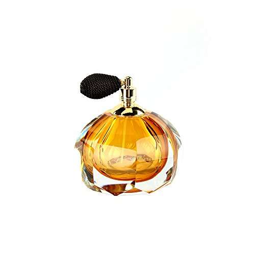 Ballerina Old Fashion Style Perfume Bottle with Black Mesh Atomizer Hand Blown Art (Old Antique Bottles)