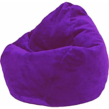 Amazon Com Furry Bean Bag Chair In Purple Kitchen Amp Dining