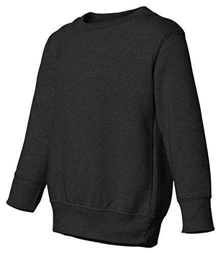 Rabbit Skins Toddler Perfect Juvenile Blended Fleece Sweatshirt, Black, ()