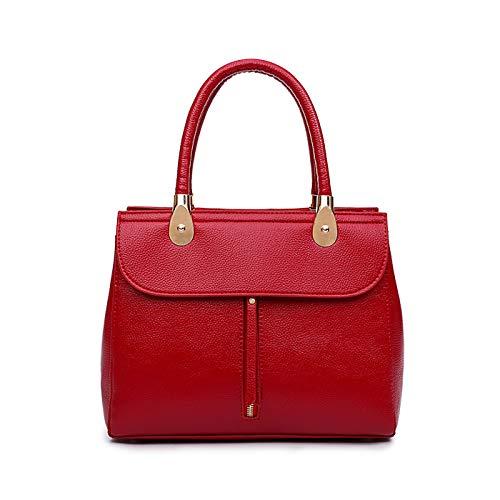 Longue PU Rouge à Bandoulière Femme Cuir Tisdaini de Sac Texture main Litchi 18ngx7q