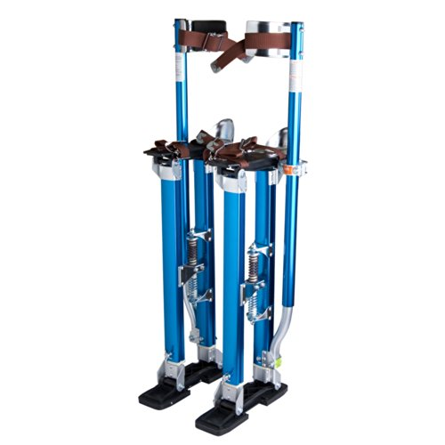 "Drywall Stilts 24""-40"" Aluminum Tool Stilt for Painting Painter Taping Blue"