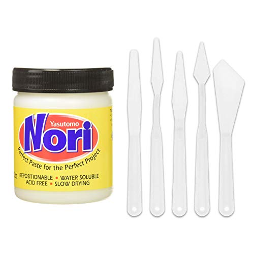 Yasutomo NP56J 10-Ounce Nori Paste and 5 Pack Pixiss Spreader Tools