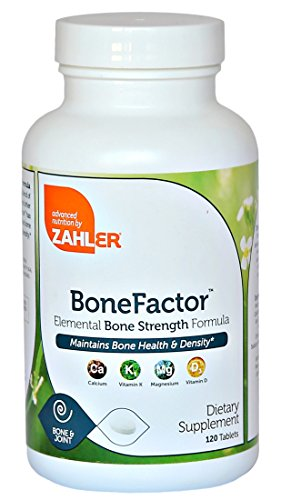 Zahler BoneFactor, Bone Strength Supplement containing Calcium, Vitamin D, Vitamin K2 and Magnesium, Certified Kosher, 120 Tablets