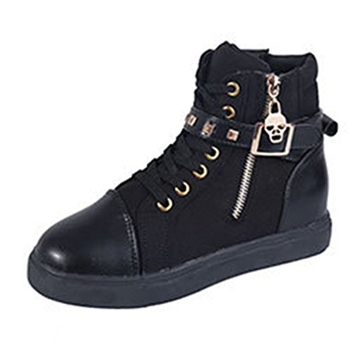 Women shoes High-Top Zipper uppers USB Charging LED Glow Shoes Flashing Sneakers