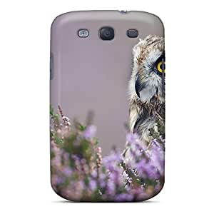 For Galaxy S3 Protector Case Short Eared Owl Phone Cover