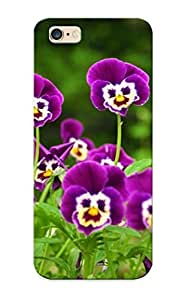 Cute High Quality Iphone 6plus 5.5 Purple Pansies Case Provided By Hugetree