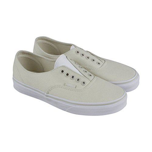 Vans Autentiche Sneakers In Pelle Gore / Canvas Bianche (7.0 Uomini - 8.5 Donne)