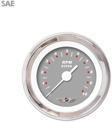 Aurora Instruments GAR117ZEAIABAD Modern Rodder Gray Tachometer Gauge