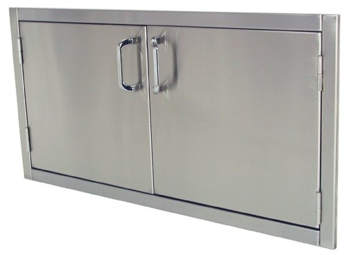 Solaire 42-Inch Flush Mount Access Doors, Stainless Steel by Solaire