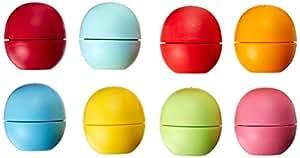 EOS Lip Balm - Strawberry Sorbet, Lemon Drop, Honeysuckle Honeydew, Summer Fruit, Sweet Mint, Tangerine, Pomegranate and Blueberry (Pack of 8)