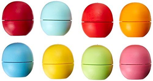 EOS baume à lèvres - Sorbet fraise, goutte de citron, Honeysuckle Honeydew, fruits d'été, menthe douce, mandarine, Grenade et bleuet (Pack de 8)