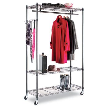Alera Wire Shelving Garment Rack (Black) by Alera