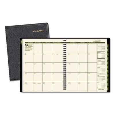A-glance 2010 Calendar (AT-A-GLANCE 70120G05 Recycled Monthly Planner, 6 7/8 x 8 3/4, Black, 2016)