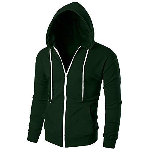 Sports Fit Innerternet With Blouse Longues Hoodie Veste Zippé Vert Pocket Blouson Outwear Homme À Slim Manches Xrw0FT7qw