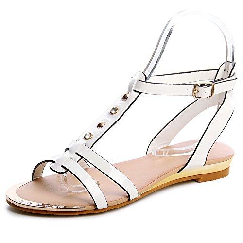 topschuhe24 Sandalias de Vestir Para Mujer Blanco - blanco