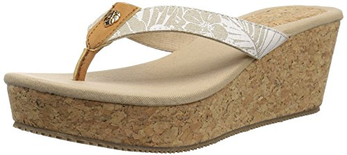Tommy Bahama Women's Saige Espadrille Wedge Sandal, Natural, 9 M US