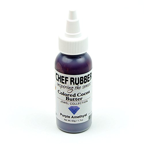 Chef Rubber Cocoa Butter, Jewel Collection - Purple Amethyst, 1.7 Ounce ()