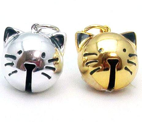 ネコ鈴 ネコの顔鈴 仔猫鈴 (ゴールド, 1000)  ゴールド B07CC428L1