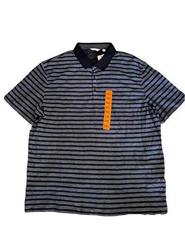 Calvin Klein Mens Striped Polo w/ Logo - Black Combo, - Polo Shirt Klein Striped Calvin