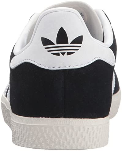 adidas Originals Boys' Gazelle C Sneaker, Black/White/Metallic Gold, 11 Medium US Little Kid