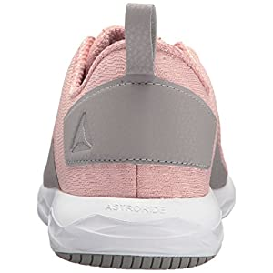 Reebok Women's Astroride Walking Shoe, chalk Pink/Powder Grey/White, 8.5 M US