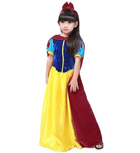 [Papaya Wear Snow White Costume Halloween Costume for Girls M] (Womens M&m Halloween Costume)