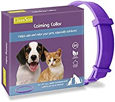 Calming Collar for Dogs and Cats, Antianxiety Collar with Adjustable Size,Natural Safe Waterproof Long Lasting Calming...