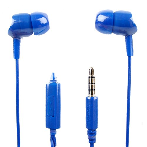 DURAGADGET Premium Quality in-Ear Earphones in Blue with Microphone for The Tabmart T116 by DURAGADGET