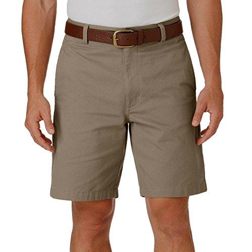 Chaps Mens Classic-Fit Solid Flat-Front Shorts, Hudson Tan, ()