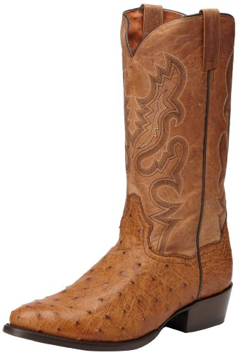 Dan Post Men's Tempe Western Boot,Saddle Brown,10D US (Dan Post Ostrich Boots)