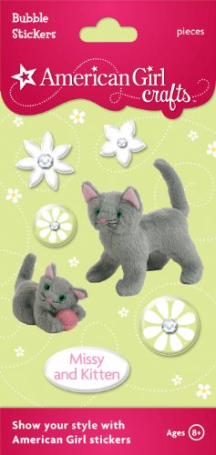 American Girl Crafts Bubble Stickers, Missy and Kitten -