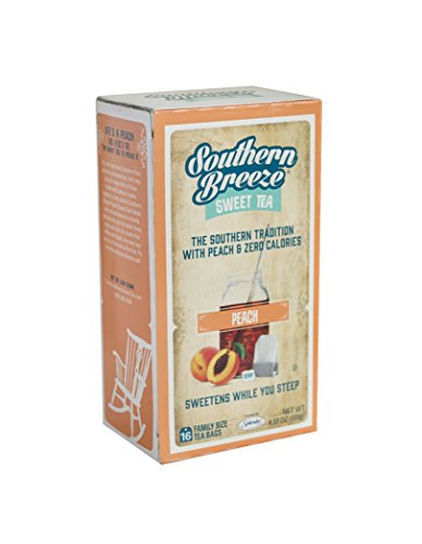 Southern Breeze Sweet Tea Peach, 16 Count (Pack of (Southern Sweet Tea)