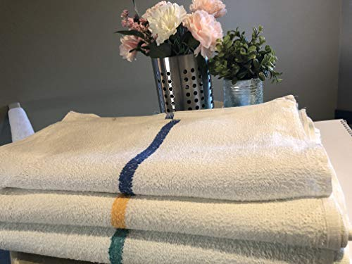 - 60 5 Dozen Blue Stripe Gold Or Green Bar Towels Cleaning Commercial Towels By OMNI LINENS