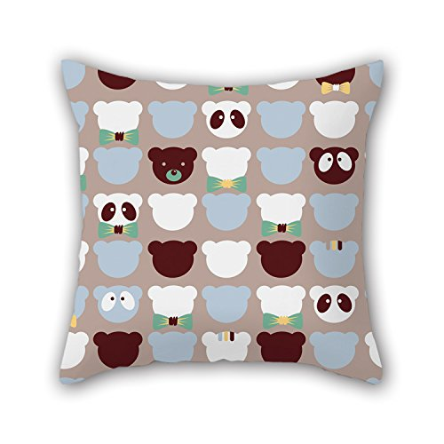Price comparison product image MaSoyy Pillow Covers 20 X 20 Inches / 50 By 50 Cm(twin Sides) Nice Choice For Kids Room Home Theater Bedding Car Bench Home Bear