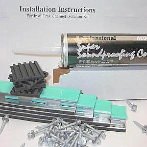 SSP InsulTrax Wall Isolation Channel Soundproofing Kit 48 Sq. Ft.