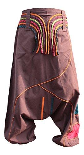 Hippie Marron Fashion Pantalon Harem Shopoholic Unisexe pantalon qgwZz