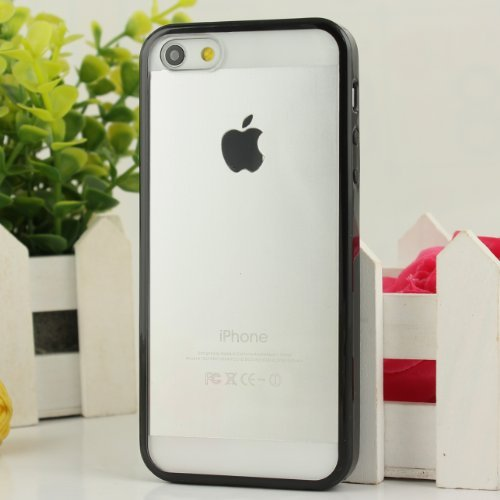 Amazon.com  Black Hot Bumper Skin Case With Crystal Clear Back Cover for  iPhone 5 5G  Garden   Outdoor ec91881f70a9