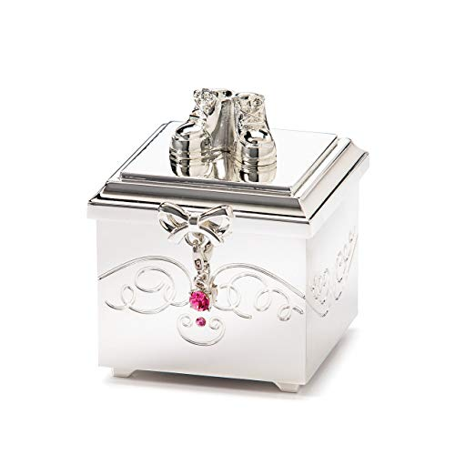 DEMDACO Birthstone Charm Keepsake Box, October
