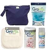 GroVia - Custom Bundle: Includes 1 Cloth Wipes - 1 Magic Stick - 1 BioLiners - 1 Mighty Bubbles - 1 Wet Bag