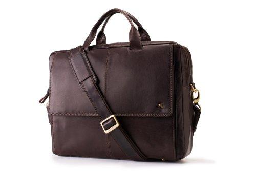 Visconti ML24 Leather Laptop Computer Case / Shoulder Messenger Bag (Brown) -  ml24brn