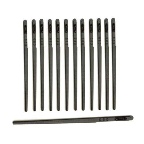 C.S. Osborne Pack of 12 Leather Lacing Needle #411-1/2 Leathercraft Tool