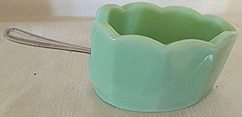 Scalloped Mule Shoe Spoonholder - Sanitary - Westmoreland Milk Glass Patterns