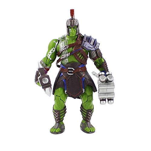 PAPWELL Hulk Ragnarok Action Figure 8 inch Hot Toys Marvel Legends Thor 3 Gladiator Hulk Robert Bruce Banner Figures Avengers Model Toy Christmas Halloween Collectable Gifts Collectible Gift for Kids