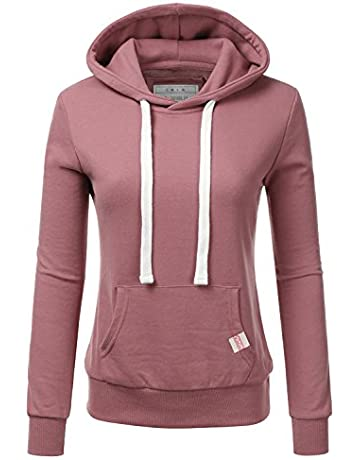 bb709dafd Doublju WoWomeeens's Basic Lightweight Pullover Hoodie Sweatshirt with Plus  Size