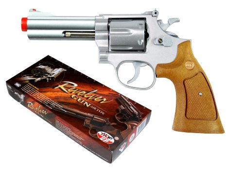 TSD Sports UA933SW 4 Inch Spring Powered Airsoft Revolver (Silver)