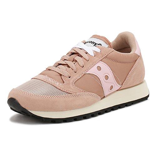 Sneaker Saucony Jazz Vintage in suede e nylon rosa Rosa