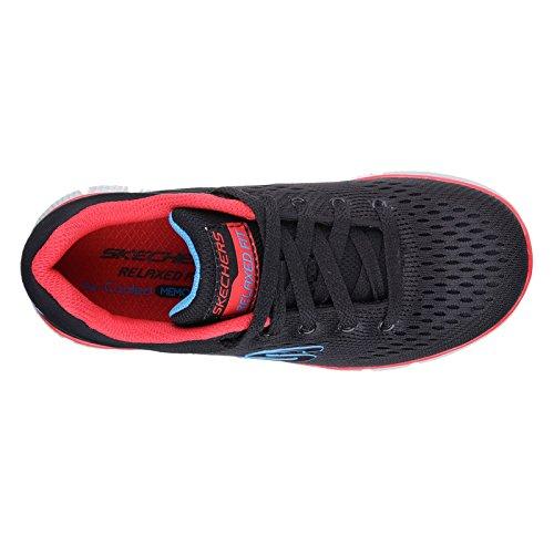 Skechers Jungen Equalizer 2.0-Post Season Sneaker Schwarz Rot