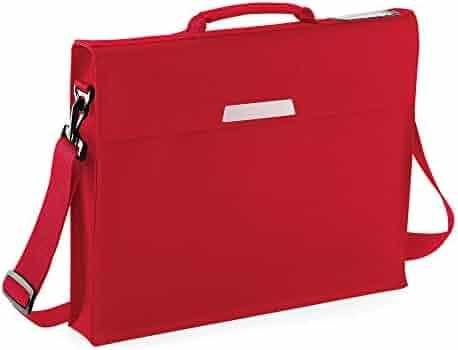4404bc4e9c Quadra Academy Classic Portfolio Book Bag With Shoulder Strap (One Size) ( Classic Red