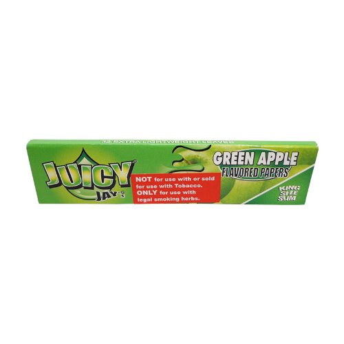 Juicy Jays Green Apple Flavored Rolling Papers King Size